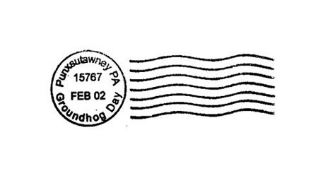 postal cancellation rubber st groundhog day cancellation postal marks punxsutawney by