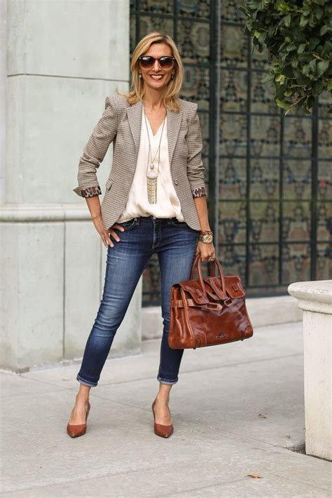 chic looks for 52 year old a visit to west hollywood wearing our roma blazer