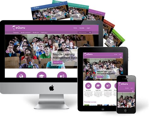 moodle theme modern eguru a modern free moodle theme for your online