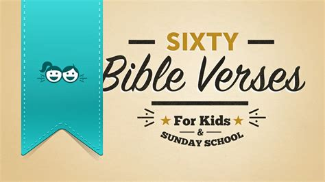 60 bible verses for and sunday school