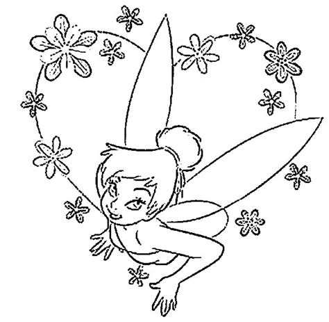 free tinker bell para colorear coloring pages
