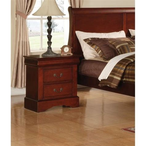 acme furniture louis phillipe iii cherry finish acme furniture louis philippe iii nightstand in cherry