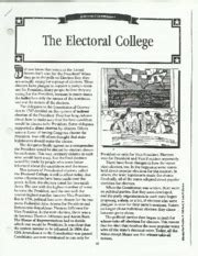 Electoral College Worksheet by Talking Points For The For Economics In The