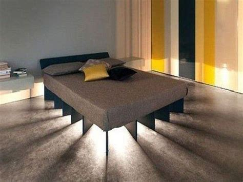 Unique Bed Frame Unique Floating Bed Frame With Lighting Decofurnish