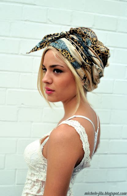 how to wear a bandana with short hair turban madness she wears blog
