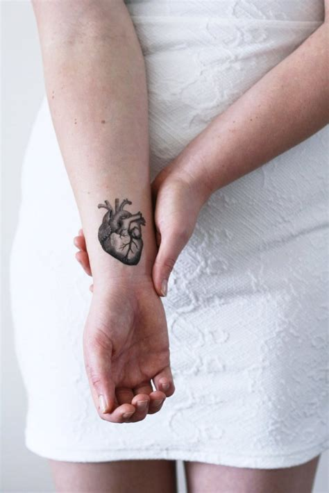 heartbeat temporary tattoo human heart temporary tattoo temporary tattoos by tattoorary