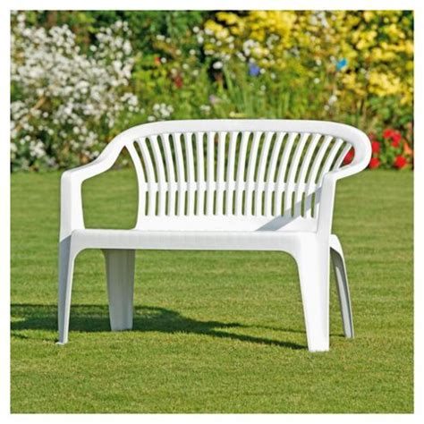 white plastic outdoor benches picture pixelmari