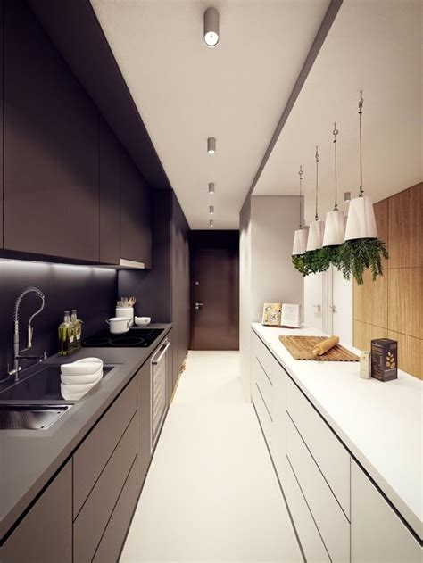 narrow kitchen functional long narrow kitchen ideas designs and cabinets