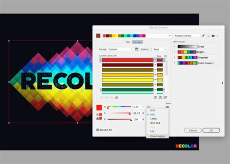 adobe illustrator cs6 recolor artwork how to use recolor artwork in adobe illustrator
