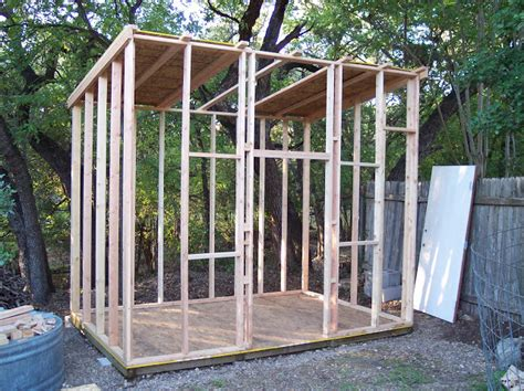 Sloped Roof Shed by Rock Oak Deer Style Shed Project