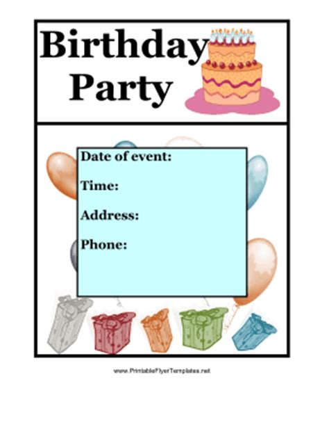 Printable Birthday Flyers Bing Images Free Printable Event Flyer Templates