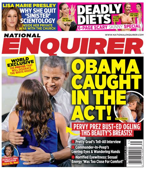 This Week In The National Enquirer Stepford by On The National Enquirer This Week Claims Barack Obama