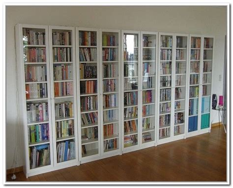 bookcases with doors ikea ikea bookcases with glass doors korter