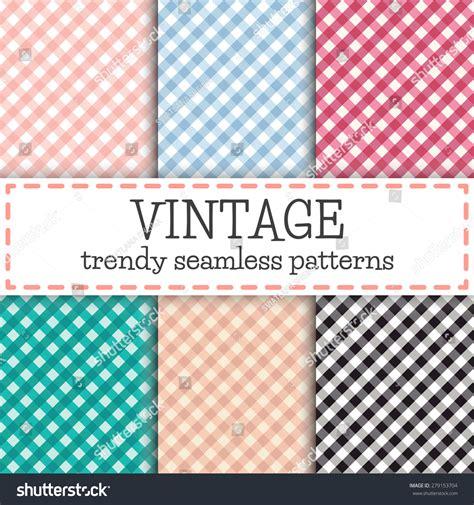 vichy pattern vector set trendy diagonal vichy patterns checkered stock vector