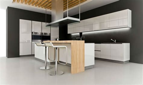 White Galley Kitchen Designs - kitchen modern corner kitchen with black wall painted white minimalist latest kitchen cabinet