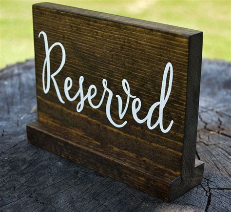 wooden reserved table signs 1000 ideas about reserved wedding signs on