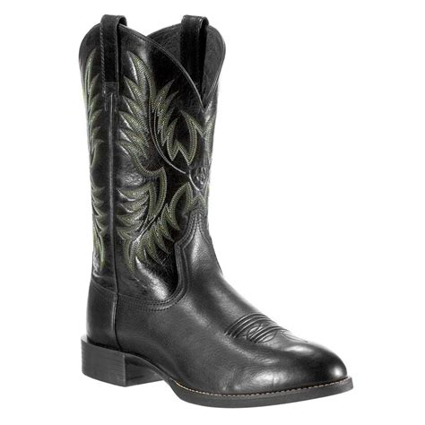 ariat s heritage stockman toe western boots
