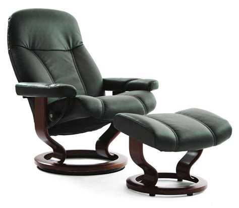 stressless consul recliners stressless consul 1005015 medium reclining chair ottoman