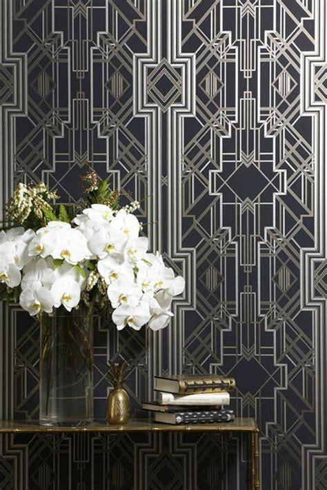 art deco decorations interior design trend art deco wallpaper wall stencils