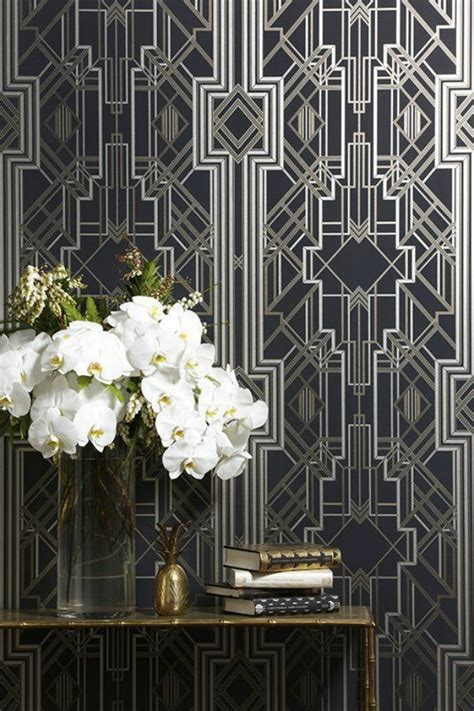 art deco interiors on pinterest art deco modern art interior design trend art deco wallpaper wall stencils