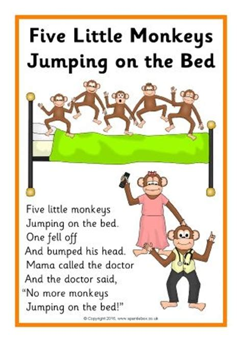 no more monkeys jumping on the bed song best 25 five little monkeys ideas on pinterest five