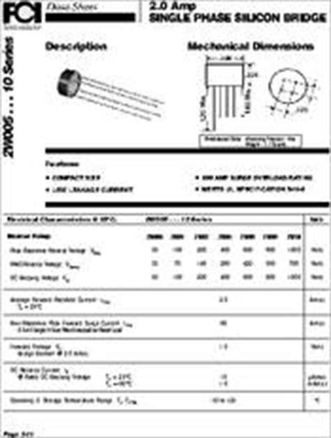 datasheet diode bridge 2w10 datasheet discrete diodes bridges
