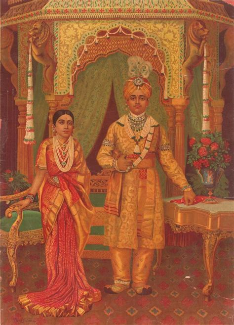 biography of artist raja ravi verma the maharaja maharani of mysore by artist raja ravi