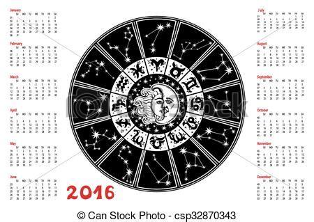 calendar  zodiac sign horoscope circle constellation