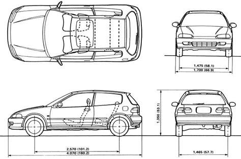 Honda Civic Dimensions eg hatch and 4dr dimensions honda tech honda