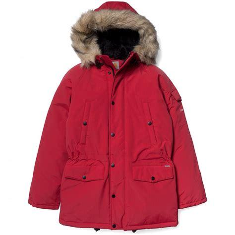 1 Parka Jacket Merah buy carhartt anchorage parka in broken whi