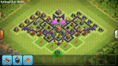 layout coc batman clash of clans batman base th7 town hall 7 best bat layout