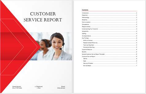 customer service report template microsoft word templates