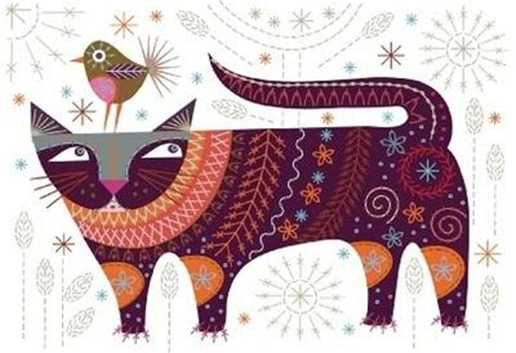 contemporary embroidery design joan nicholson modern cat embroidery kit by nancy nicholson