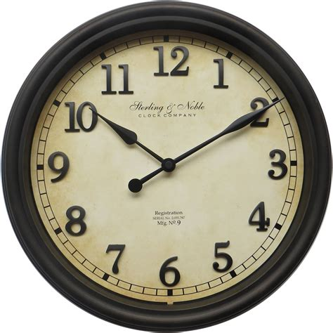 wall clocks chaney instruments 75100c acurite digital 18 quot wall clock