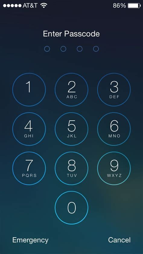 set  passcode   iphone  lock screen