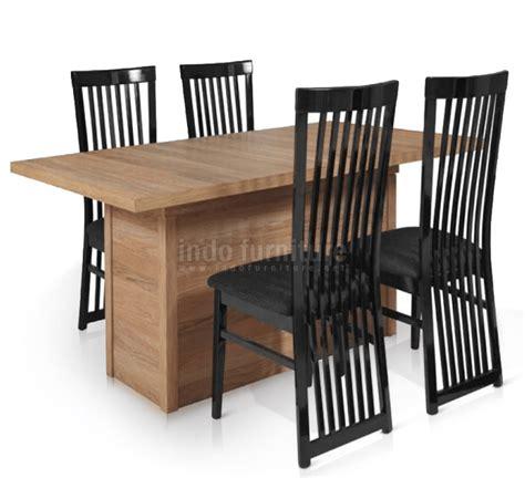 desain meja makan jati model meja kayu modern untuk ruang makan rumah minimalis