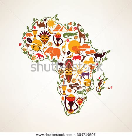 africa map logo afrique stock photos images pictures