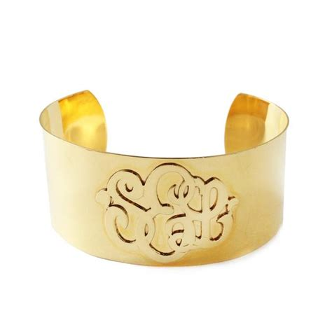 moon and lola castel monogram cuff