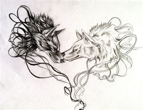 two wolves tattoo two wolves by lucky978 on deviantart