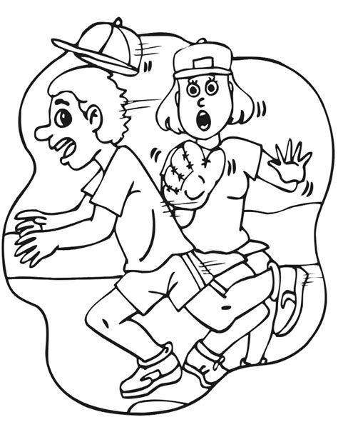 softball printable coloring pages