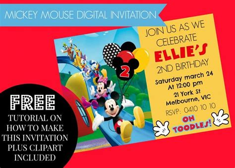 free invitation maker mickey mouse 17 best images about diy mickey mouse clubhouse printables more on how to