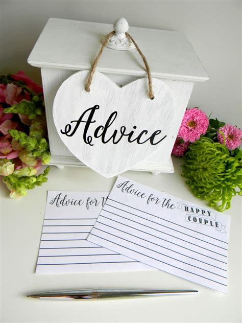 Wedding Advice Cards Printable by The Best Bridal Shower Events To Celebrate