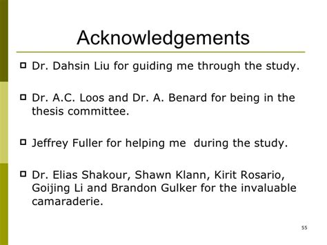 acknowledgement thesis ppt ms thesis presentation