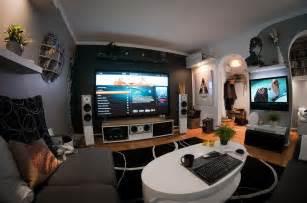 a home entertainment setup