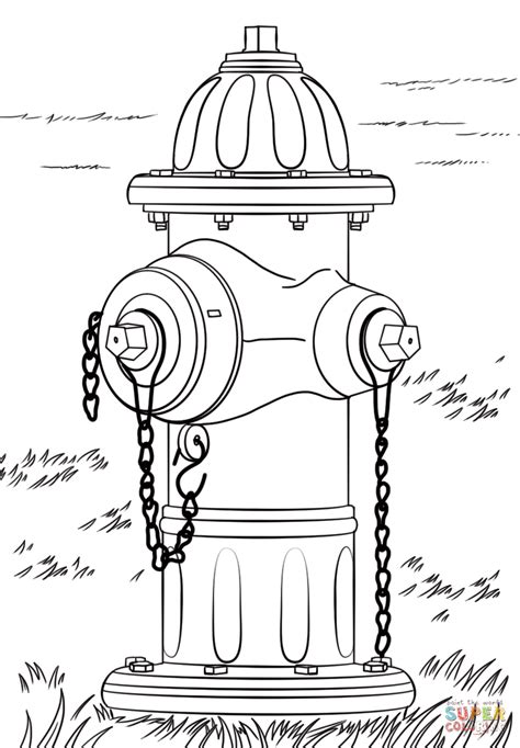 hydrant coloring pages