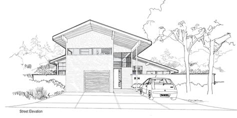 modern house sketch design front view modern house