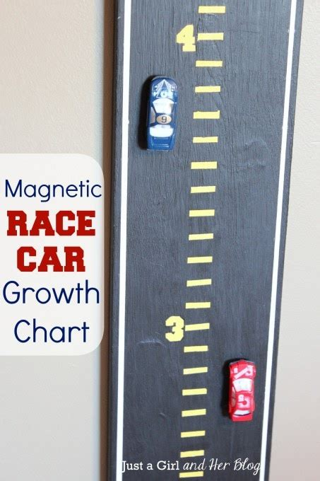growth charts for rooms magnetic race car growth chart just a and
