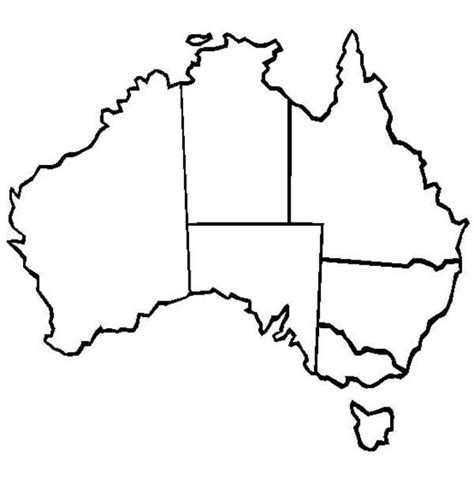 australia map outline outline of australian map clipart best