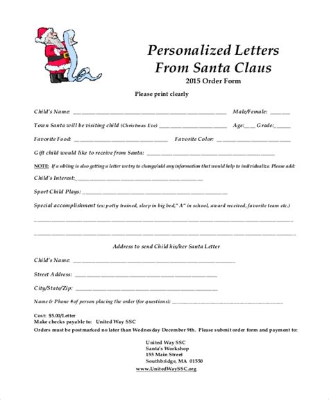 Santa Letter Template 9 Free Word Pdf Psd Documents Download Free Premium Templates Letter From Santa Template Word
