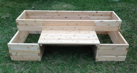garden bench kit raised garden bed kits with bench
